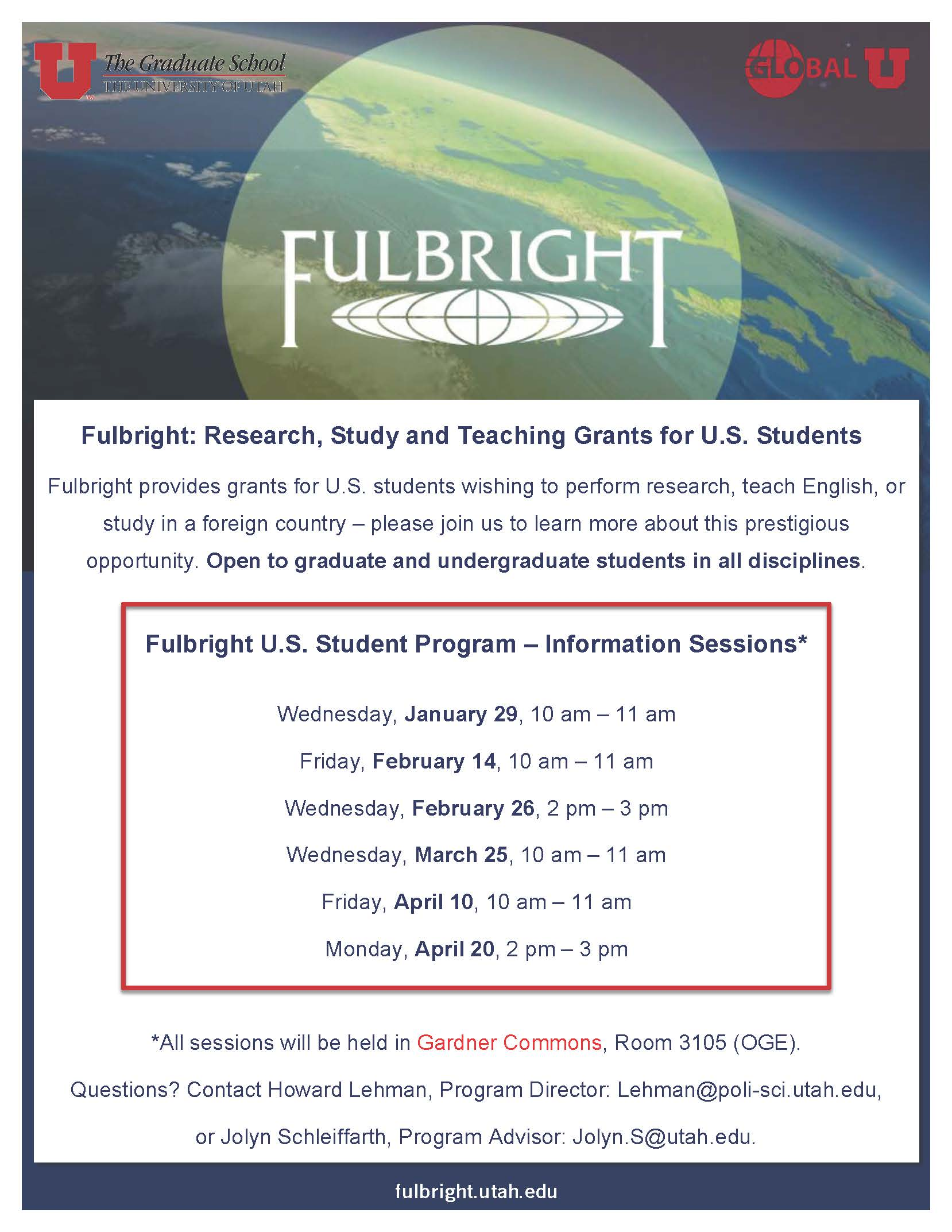 Fulbright Information Sessions